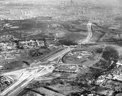 Eastern Freeway under construction
