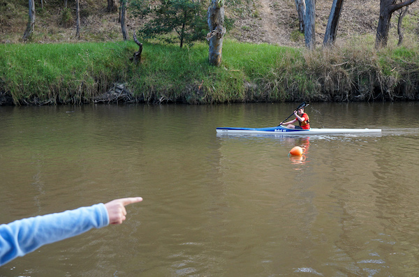 point to paddler