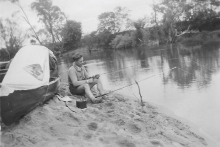 Fishing on the Yarra